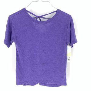 Z by Zella Purple Active T-Shirt Size M NWT